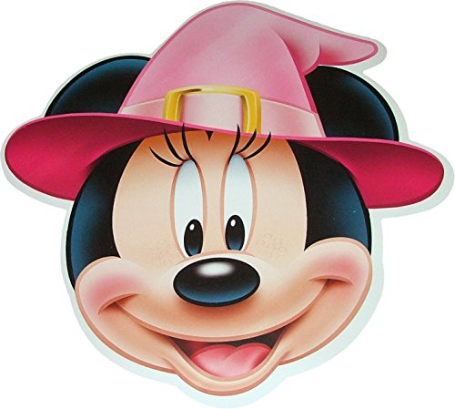(Disney Halloween Minnie Mouse Witch - Card Face Mask - Licensed Product)