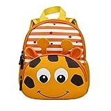Bozdqun Stylish Giraffe Print Toddler Kids Backpack Boys Kindergarten School Book Bags