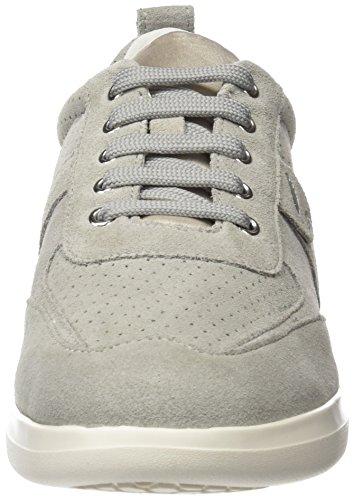 Gris Femme Gomesia Grey Basses Sneakers C Lt Geox 18wzXq
