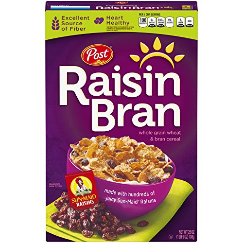 Post Raisin Bran Whole Grain Wheat & Bran Cereal, 25 Ounce
