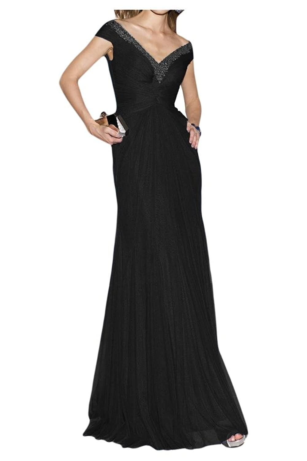 Gorgeous Bride Sexy Backless Off-shoulder Evening Gown Prom Gown Tulle