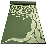 Fit Spirit Yoga Starter Set Kit - Includes 3mm PVC Exercise Mat, Yoga Blocks, Yoga Towels, Yoga Strap Green