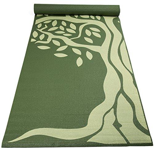 Fit Spirit Premium Printed Yoga Mat Green Tree 6mm