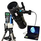 Black 6'' Computer Controlled Reflector Telescope with 3MP Digital USB Camera