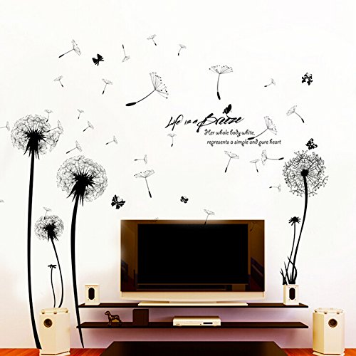 Cheap  Pettstore Waterproof Wall Sticker Dandelion Wall Decal Stick Mural For Kid's Bedroom..