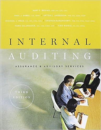 Amazon internal auditing assurance advisory services third internal auditing assurance advisory services third edition 3rd edition fandeluxe Image collections