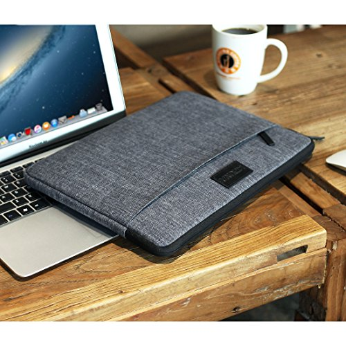 "KIZUNA 13.3 Inch Laptop Sleeve Case Computer Bag for 13"" MacBook Air/13.5"" Surface Book 2/13.9"" Lenovo Yoga C930/14 ThinkPad X1 Carbon/Flex 14/HP EliteBook 840 G5/Huawei MateBook D/ASUS ZenBook-Grey"