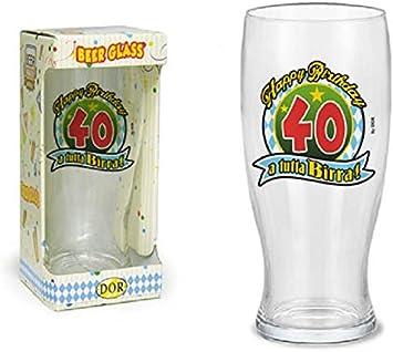 BICCHIERE 40 ANNI Calice vetro Gadget stampato idea regalo festa 40° Compleanno