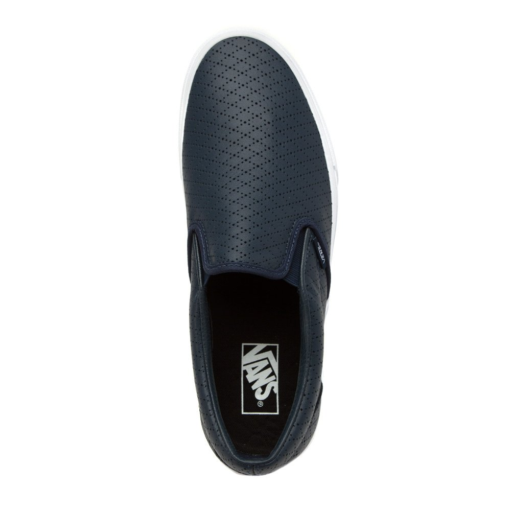 22392231ae Vans Mens Classic Slip-On (Diamond Perforation) Dress Blues Leather VN-0ZMRFDQ  8.5  Amazon.ca  Shoes   Handbags