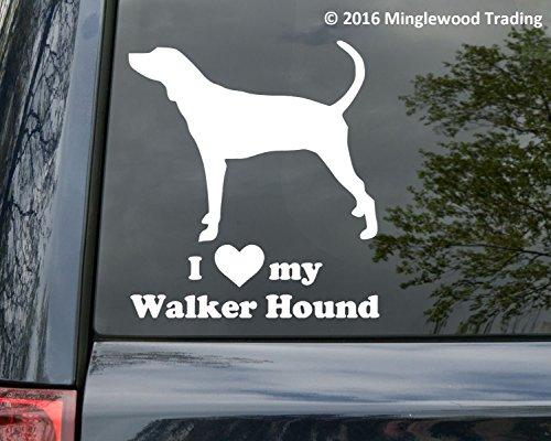 Minglewood Trading I love my Walker Hound vinyl decal sticker 5