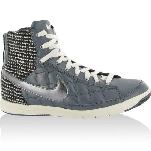 Nike Womens Flyknit Racer White / Leggion Blue 526628-102 (misura: 6.5)