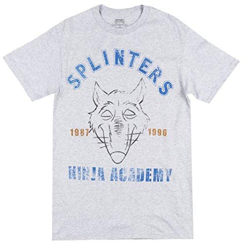 Tmnt Splinter Costumes (Nickelodeon Men's Ninja Turtles Splinter T-Shirt, Heather Grey, XX-Large)