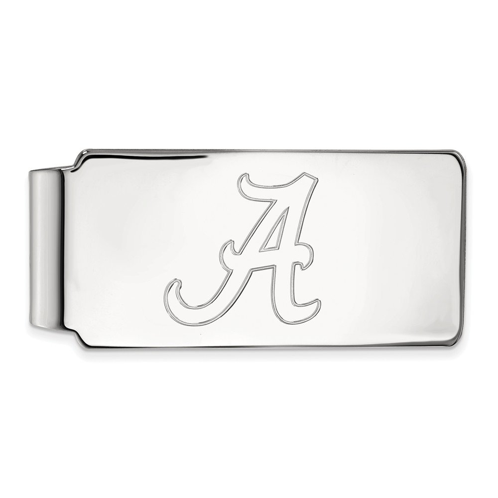 Sterling Silver LogoArt Official Licensed Collegiate University of Alabama (UA) Money Clip