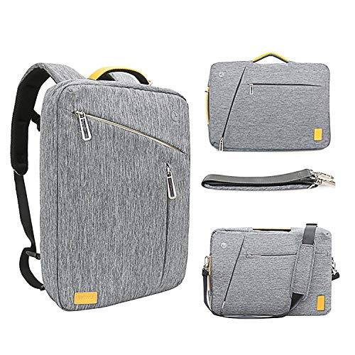 15 Inch Convertible Laptop Backpack - WIWU Multi Functional Travel Rucksack Water Resistant Knapsack Work School College Backpacks for Men and Women, Business Backpack fit 15.6 inch ()