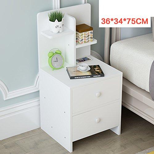 Solid wood storage cabinet [dorm room] Bedroom Assemble bedside cabinet Simple bedside table Modern simple bed cabinet Storage cabinets-N (Shaker Storage Bed)