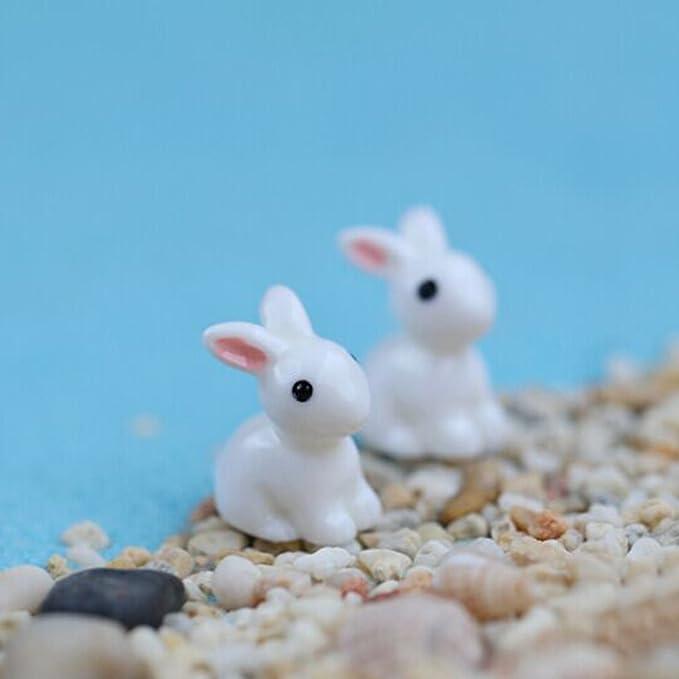 10pcs Conigli in resina in miniatura Figurine Paesaggio vaso bonsai Decor