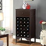 World Pride Heavy Duty Wood Wine Cabinet Rack Drawer Liquor Bottle Storage Holder Kitchen Bar Espresso Review
