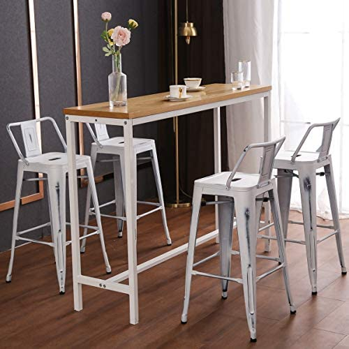 30 inch Metal Barstools Set of 4 Indoor Outdoor Bar Stool
