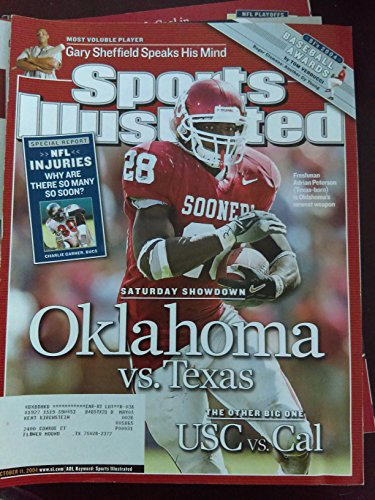 Adrian Peterson - Saturday Showdown - The Oklahoma Sooners vs. The Texas Longhorns - Sports Illustrated - October 11, 2004 - College Football - SI