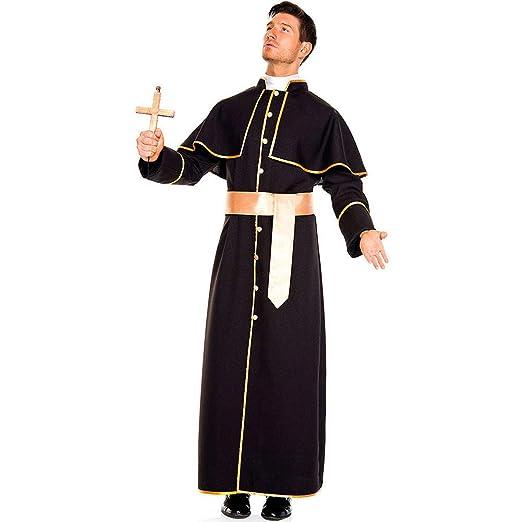 Bweele Traje de Sacerdote Sacerdote, Disfraz de Monje ...