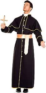 Bweele Traje de Sacerdote Sacerdote, Disfraz de Monje Sacerdote de ...