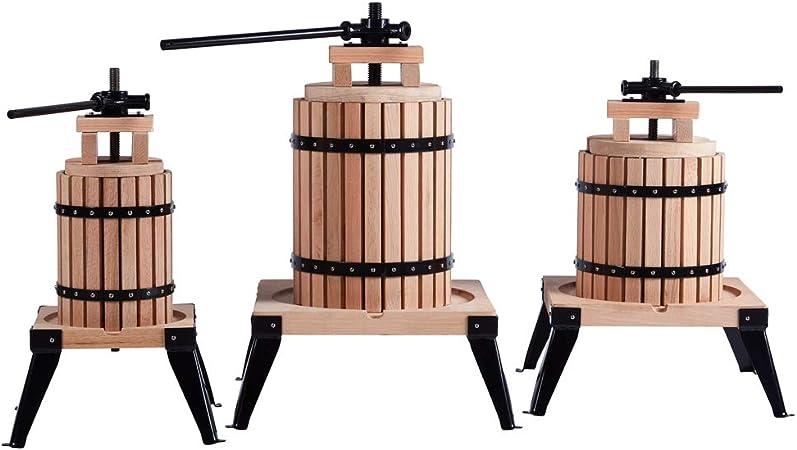 CDGF Pressoir de qualit/é en ch/êne pour vin /à base de fruits et cidre de pommes 18 l