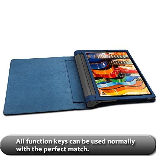 INFILAND Yoga Tab 3 Pro/Yoga Tab 3 Plus 10 Funda Case, Folio PU Cuero Cascara Delgada con Soporte para Lenovo Yoga Tab 3 10 Pro/Yoga Tab 3 Plus 10.1 ...