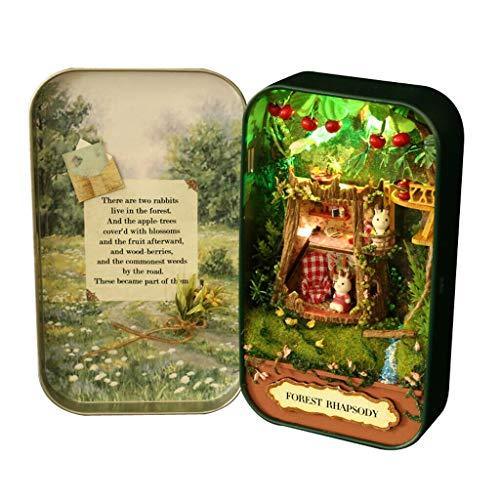 NATFUR Forest Rhapsody Themed DIY Metal Box Dollhouse Miniature Handicraft Kid Toy