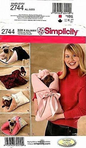 Simplicity 2744 Sewing Pattern Dog Carrier Bed Beret Bonnet