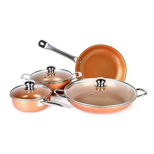 Juego de 7 utensilios de cocina con revestimiento de cerámica de ...