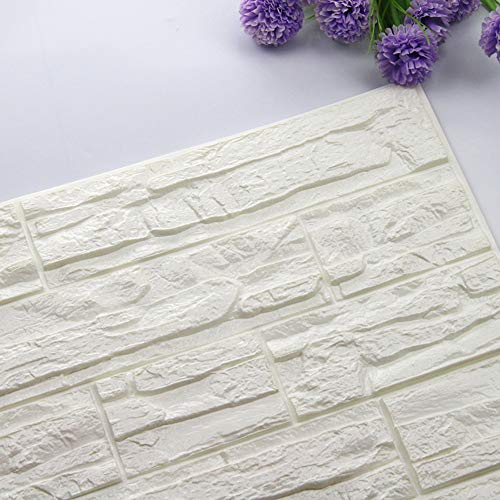 ManxiVoo 3D Brick Wall Stickers PE Foam Wallpaper Panels Peel and Stick 3D Art Wall Panels for Living Room Bedroom (A)]()