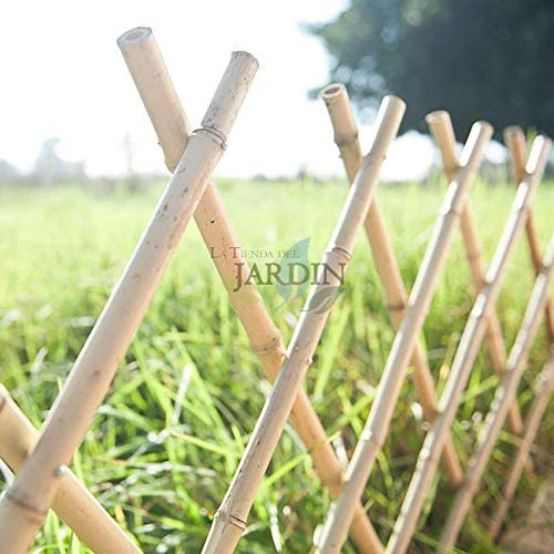 Celosía de Bambu para jardín. Seto artificial extensible. (120 x ...