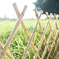 Celosía de Bambu para jardín. Seto artificial extensible.