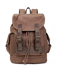 BUG® Eco-friendly Canvas Laptop Backpack Rucksack Travel & Hiking Daypack School Bag (Bitter Chocolate)