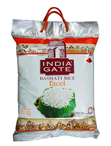 India Gate White Basmati Rice Excel, 10 lb.