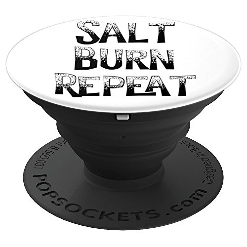 - Salt. Burn. Repeat.: supernatural spirit funny handle - PopSockets Grip and Stand for Phones and Tablets