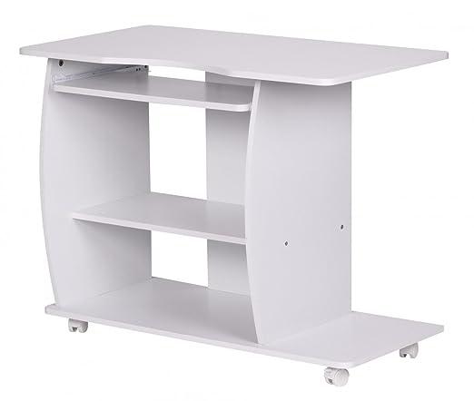 KadimaDesign Dana - Mesa de Ordenador con Ruedas (90 x 71 x 50 cm ...