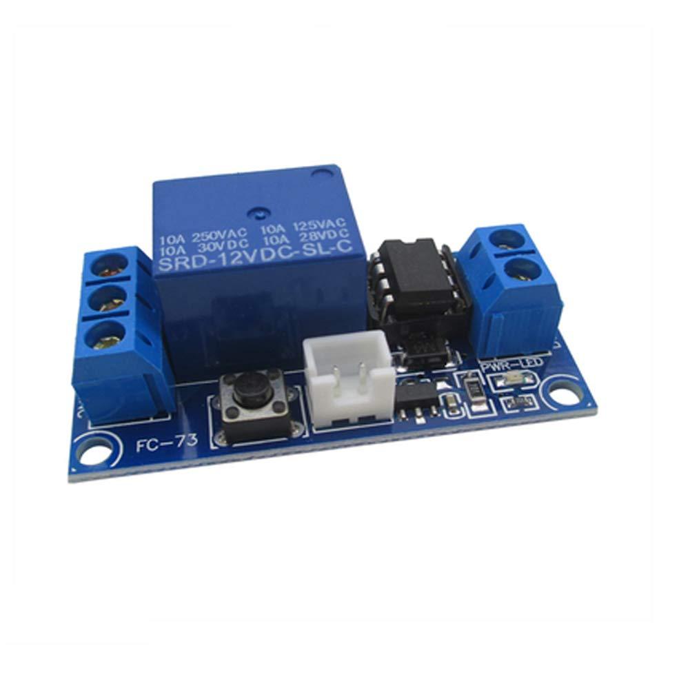 autobloccante modulo per circuito fai da te una chiave per avviare il rel/è a impulsi di corrente DaoRier DC 12 V 1 CH Bistabile espansore per rel/è