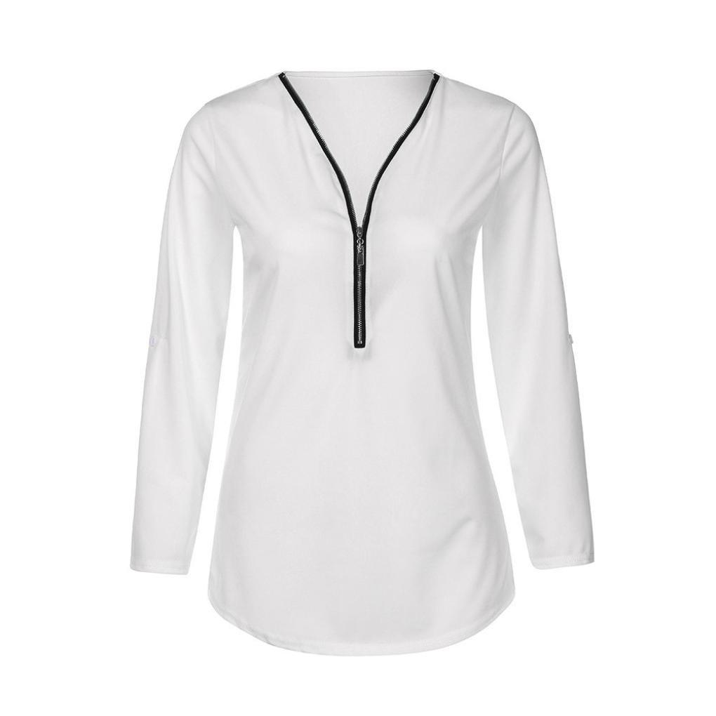 7cc87d36e ❤ Blusa con Cremallera para Mujer