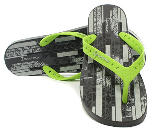 Ipanema Men's Arpoador Temas HOM Flip Flops, Black Grey/Lime