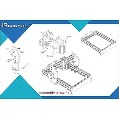 500 mW Desktop DIY Laser Engraver Engraving Machine CNC Printer aluminium alloy and acrylic Material Size A5