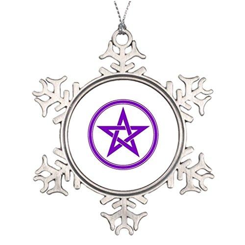 Pracy Xmas Trees Decorated pentacle Elemental Star Western Christmas Snowflake Ornaments