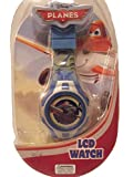 Disney Pixar Planes Dusty Cropduster Blue Sliver Digital LCD Boys Watch