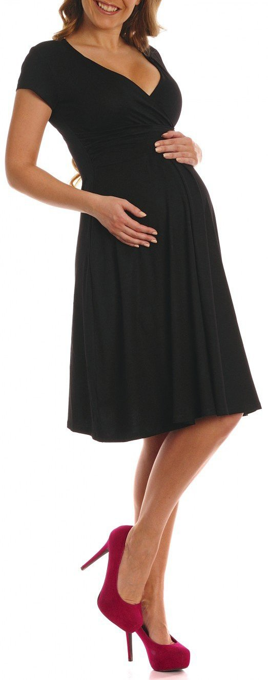 Maternity Business Clothes Dress For Baby Shower maternity dress Blue Dresses Shirts,Black,Large