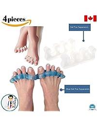 Dr Go - Toe Separators Kit- 4 Piece Set of Toe Separators, Toe Pain Relief, Foot Pain Pads, Foot Pads, Hammertoes, Overlapping toes, Metatarsalgia, Foot Pain, Foot Comfort, Toe Comfort 11