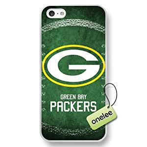 NFL Green Bay Packers Team Logo iPhone 5c White Rubber(TPU) Soft Case Cover - White