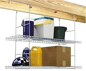 Storage Solutions 0500DS Rafter Hanging Storage Shelves, White