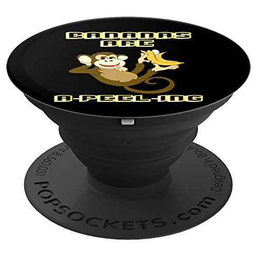 Monkeys Peel (Cute Monkey Bananas Are A-Peel-ing - PopSockets Grip and Stand for Phones and Tablets)