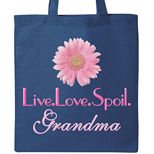 Inktastic - Live.Love.Spoil.Grandma Tote Bag Royal Blue 1850d