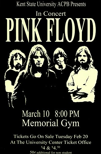 Pink Floyd - Live 1973 Retro Art Print — Poster Size — Print of Retro Concert Poster — Features Nick Mason, Roger Waters, Richard Wright, Syd Barrett and David Gilmour.